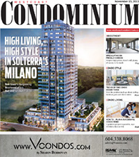 Westcoast Condominium Magazine Cover, November 12, 2015