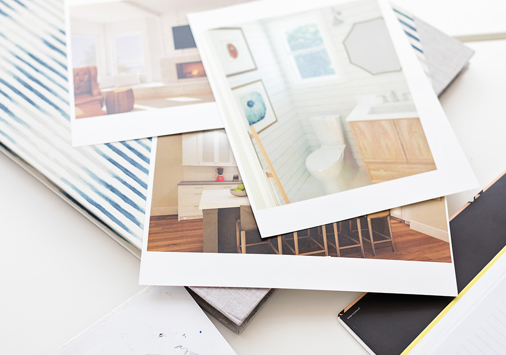 A stack of images of interior design renderings.