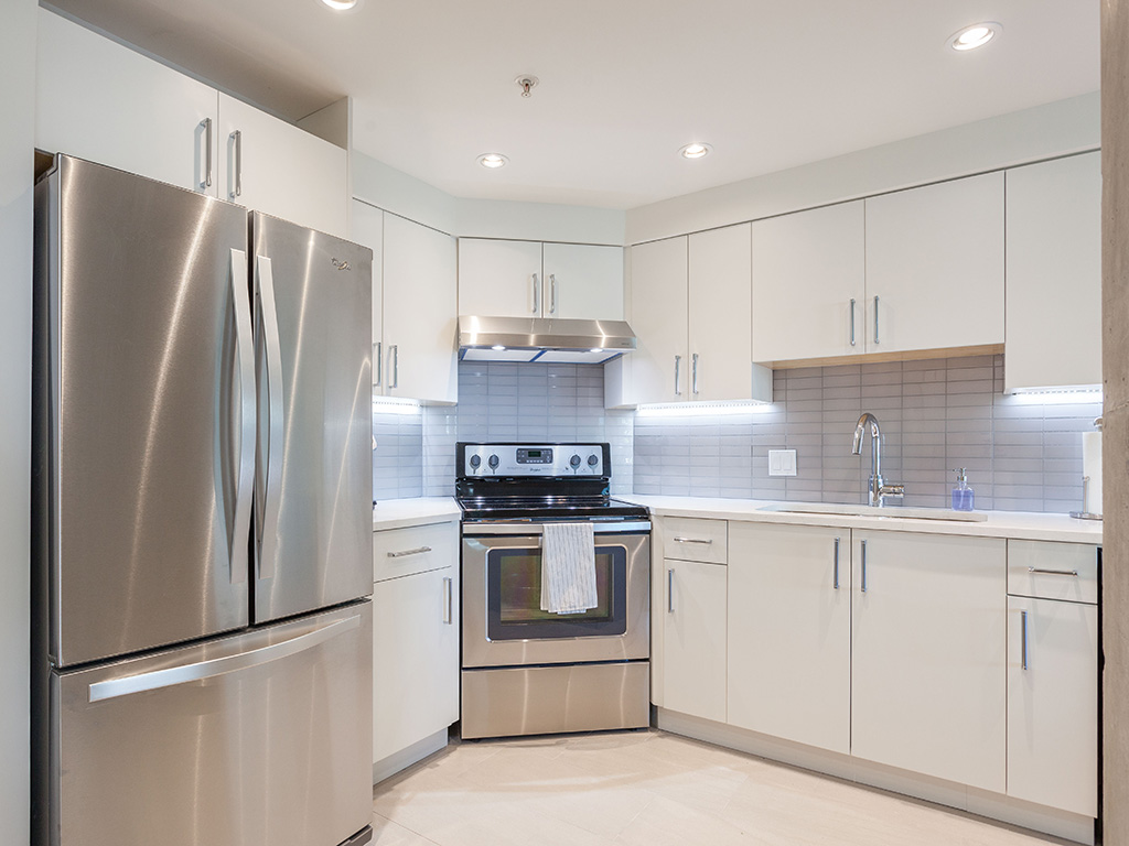 Vancouver white modern kitchen condo